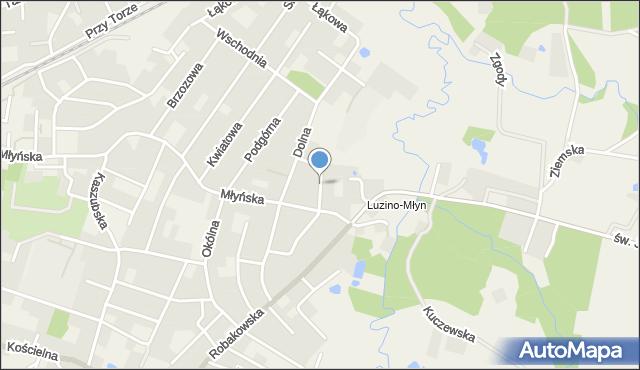 Luzino, Krzywa, mapa Luzino