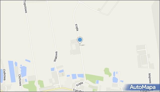 Mała Nieszawka, Kręta, mapa Mała Nieszawka