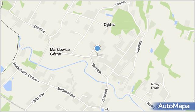 Marklowice Górne, Krzywa, mapa Marklowice Górne