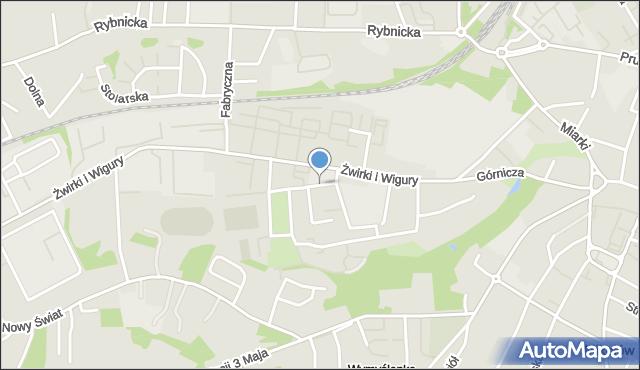 Mikołów, Krokusów, mapa Mikołów