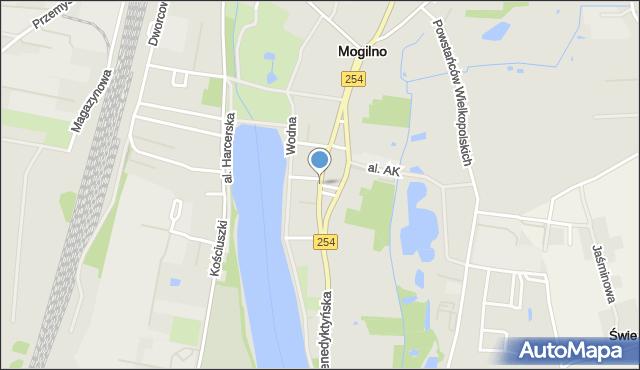 Mogilno, Króla Władysława Jagiełły, mapa Mogilno