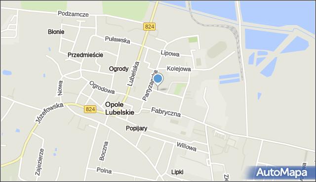 Opole Lubelskie, Krasickiego Ignacego, bp., mapa Opole Lubelskie