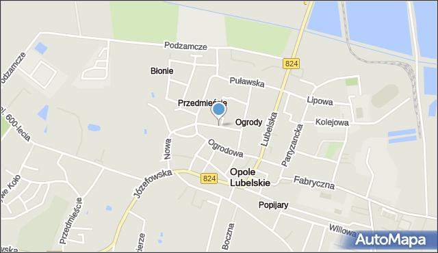 Opole Lubelskie, Kraszewskiego Józefa Ignacego, mapa Opole Lubelskie