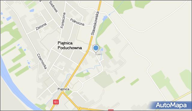 Piątnica Poduchowna, Krótka, mapa Piątnica Poduchowna