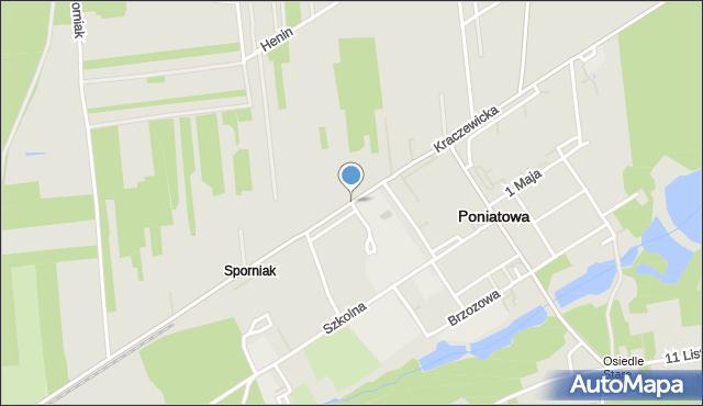 Poniatowa powiat opolski, Kraczewicka, mapa Poniatowa powiat opolski