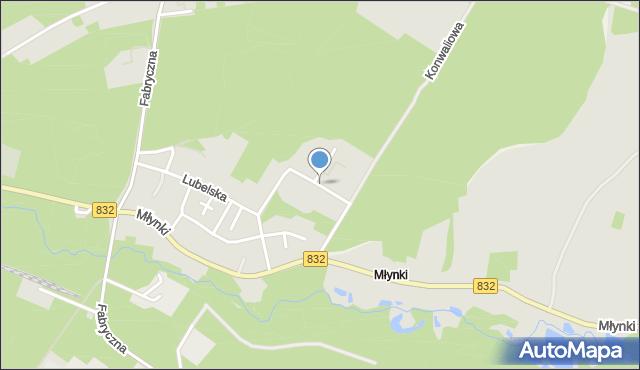 Poniatowa powiat opolski, Krokusowa, mapa Poniatowa powiat opolski