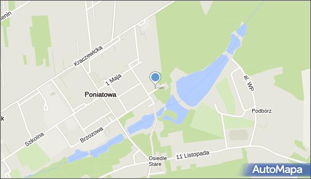 Poniatowa powiat opolski, Krótka, mapa Poniatowa powiat opolski