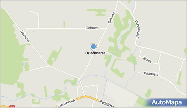 Poręba powiat zawierciański, Krawiecka, mapa Poręba powiat zawierciański