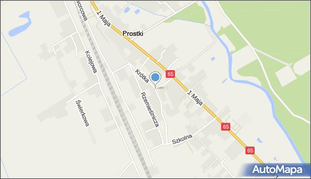 Prostki, Krótka, mapa Prostki