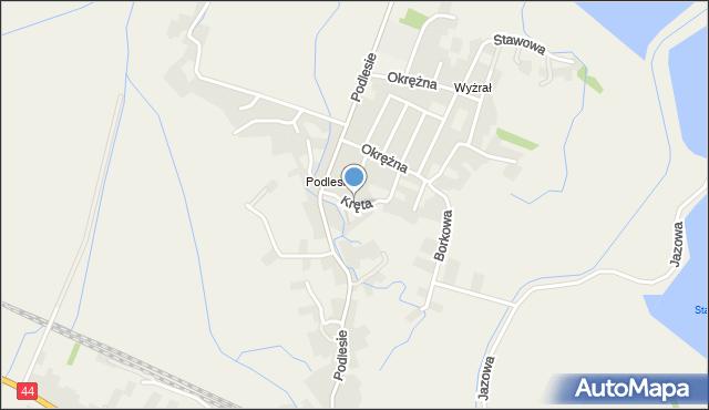 Przeciszów, Kręta, mapa Przeciszów