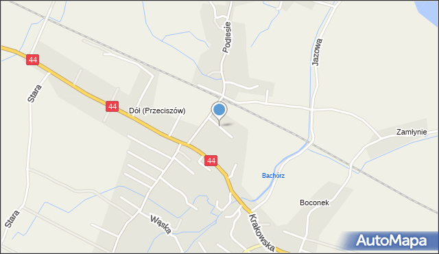 Przeciszów, Krótka, mapa Przeciszów