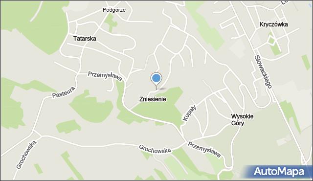 Przemyśl, Krakusa, mapa Przemyśla