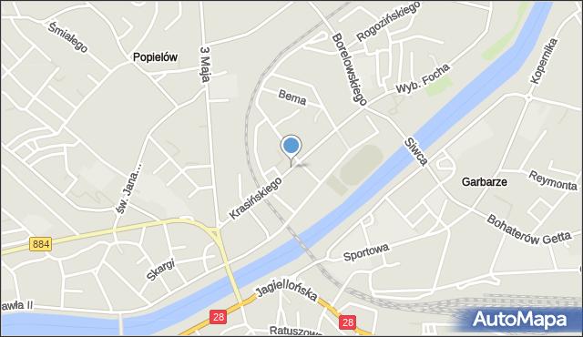 Przemyśl, Krasińskiego Zygmunta, mapa Przemyśla