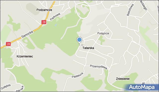 Przemyśl, Króla Władysława Jagiełły, mapa Przemyśla