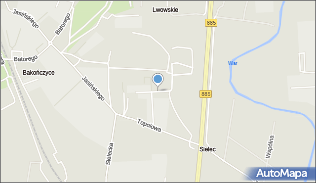 Przemyśl, Krównicka, mapa Przemyśla