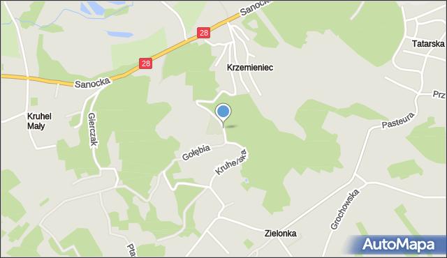 Przemyśl, Kruhelska, mapa Przemyśla