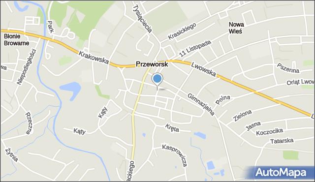 Przeworsk, Krótka, mapa Przeworsk