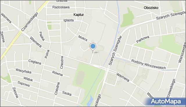 Radom, Kraszewskiego Józefa Ignacego, mapa Radomia
