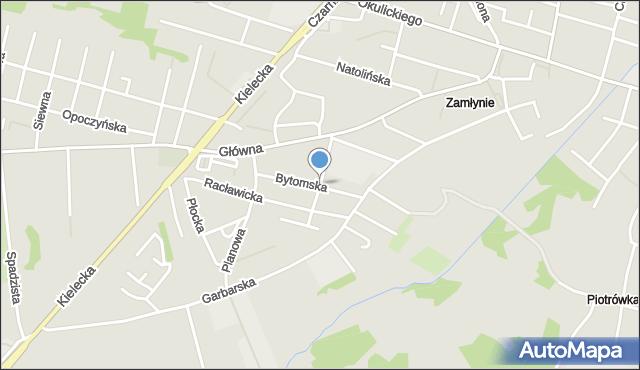 Radom, Krucza, mapa Radomia