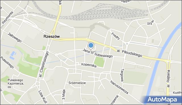Rzeszów, Króla Jana III Sobieskiego, mapa Rzeszów