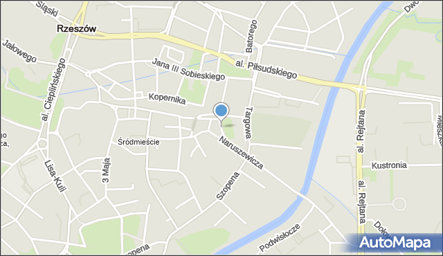 Rzeszów, Kreczmera Henryka Jakuba, mapa Rzeszów