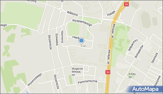 Rzeszów, Krajobrazowa, mapa Rzeszów