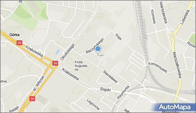 Rzeszów, Królowej Jadwigi, mapa Rzeszów