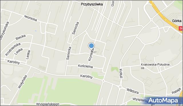 Rzeszów, Krynicka, mapa Rzeszów