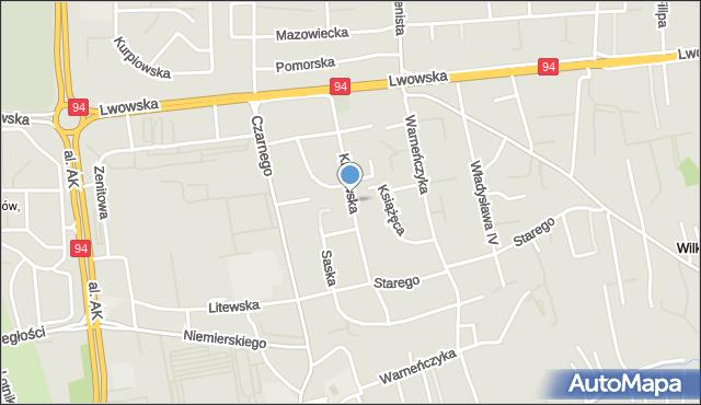 Rzeszów, Królewska, mapa Rzeszów