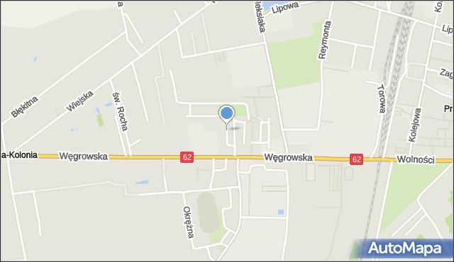 Sokołów Podlaski, Kryształowa, mapa Sokołów Podlaski