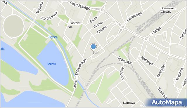 Sosnowiec, Króla Jana III Sobieskiego, mapa Sosnowca