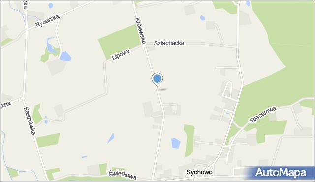 Sychowo, Królewska, mapa Sychowo