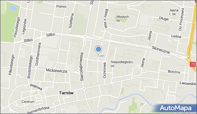 Tarnów, Krupnicza, mapa Tarnów