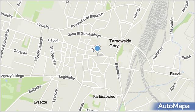 Tarnowskie Góry, Krakowska, mapa Tarnowskie Góry
