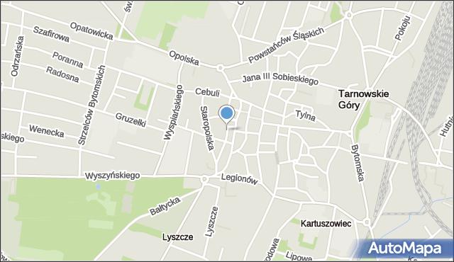 Tarnowskie Góry, Królika Teofila, mapa Tarnowskie Góry