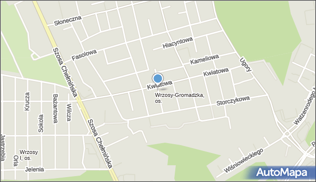 Toruń, Krokusowa, mapa Torunia