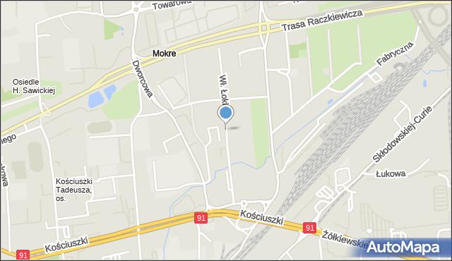 Toruń, Króla Władysława Łokietka, mapa Torunia