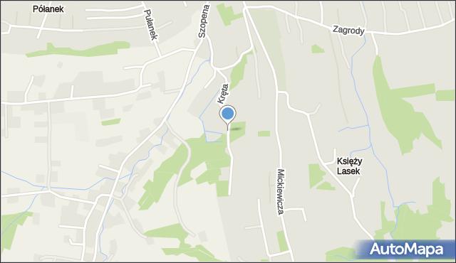 Tyczyn powiat rzeszowski, Kręta, mapa Tyczyn powiat rzeszowski