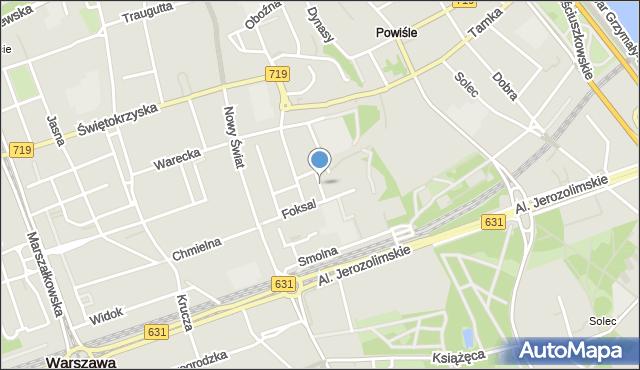 Warszawa, Krywulta Aleksandra, mapa Warszawy