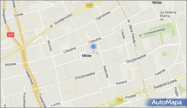Warszawa, Krochmalna, mapa Warszawy
