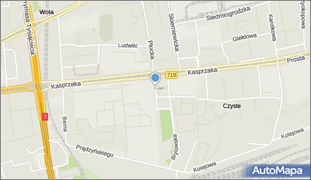 Warszawa, Krzyżanowskiego Seweryna, mapa Warszawy