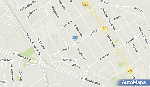 Warszawa, Królowej Marysieńki, mapa Warszawy