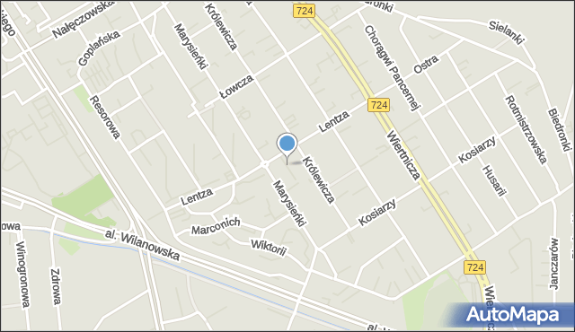 Warszawa, Królewicza Aleksandra, mapa Warszawy
