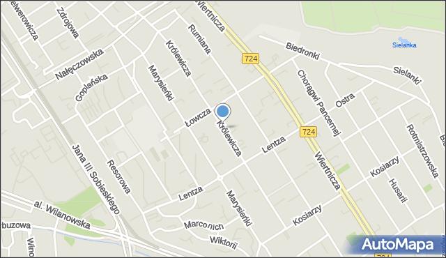 Warszawa, Królewicza Jakuba, mapa Warszawy
