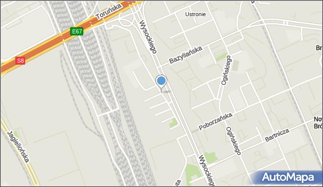 Warszawa, Krakusa, mapa Warszawy