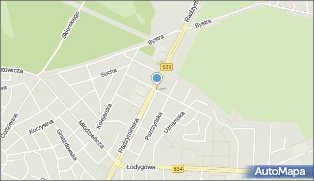 Warszawa, Krynoliny, mapa Warszawy