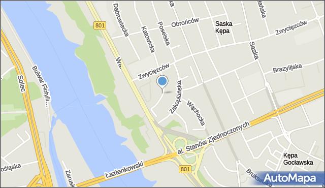 Warszawa, Kryniczna, mapa Warszawy