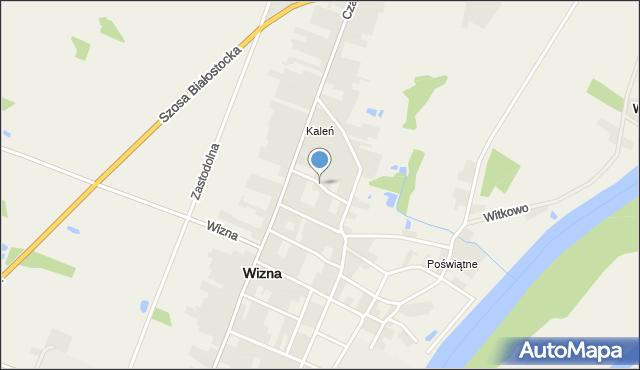 Wizna, Krótka, mapa Wizna