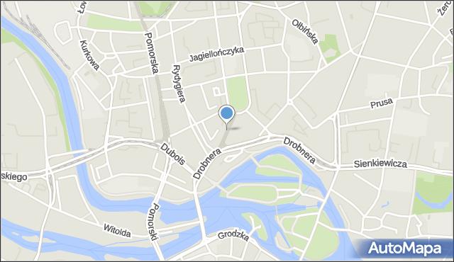 Wrocław, Króla Władysława Łokietka, mapa Wrocławia