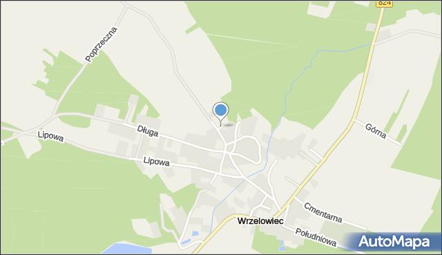 Wrzelowiec, Krótka, mapa Wrzelowiec